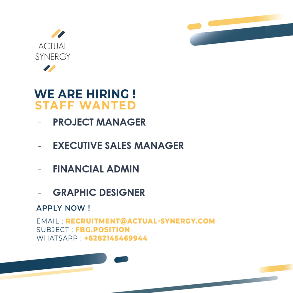 Actual Synergy Vacancy 13 August 2020 Hhrma Job